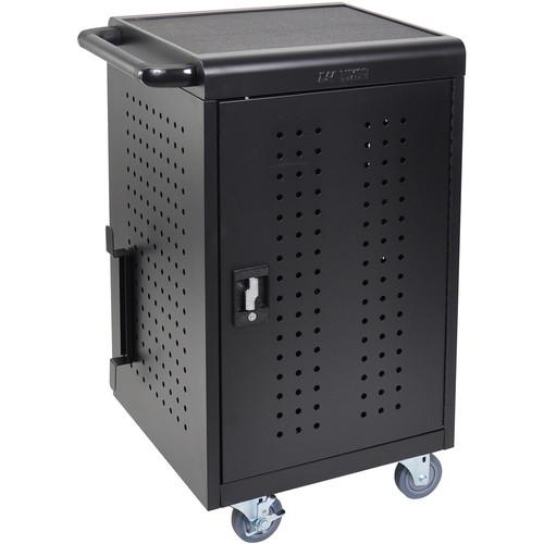 Luxor LLTM30-B - 30 Tablet Charging Rolling Cart with 20 Cable