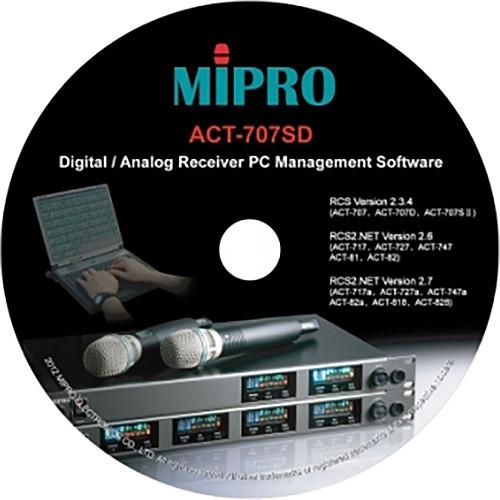 MIPRO PC Management Software for Select Receivers ACT707SD