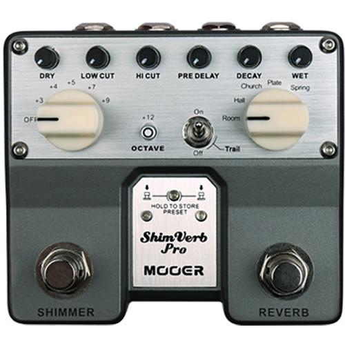 MOOER Twin Series ShimVerb Pro Digital Reverb Pedal TVR1