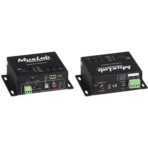 MuxLab Audio Zone Amplifier with Two Stereo Inputs, 500216-US