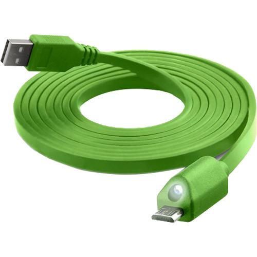 Naztech Micro-USB LED Charge & Sync Cable 6' (Green) 12424