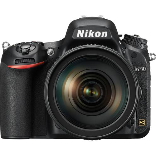 Nikon D750 DSLR Camera with 24-120mm Lens and Storage Kit