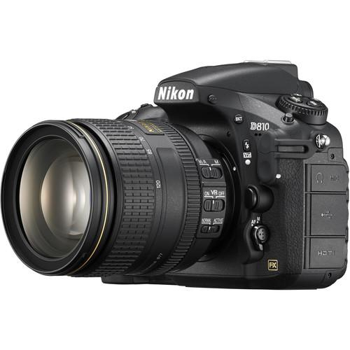 Nikon D810 DSLR Camera with 24-120mm Lens and 6-Track Field