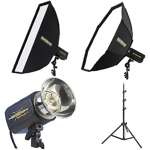 Novatron M150 2-Monolight Kit with 2 Soft Boxes N2638KIT