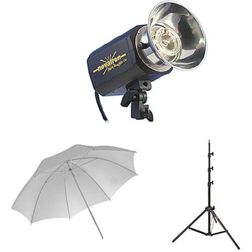 Novatron M150 2-Monolight Kit with 2 Umbrellas N2640KIT