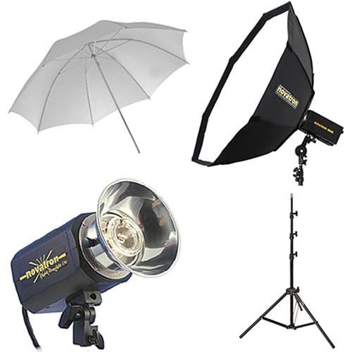 Novatron M150 2-Monolight Kit with Umbrella and Softbox N2639KIT