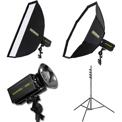 Novatron M300 2-Monolight Kit with 2 Softboxes N2641KIT