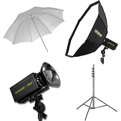 Novatron M300 2-Monolight Kit with Umbrella and Softbox N2642KIT