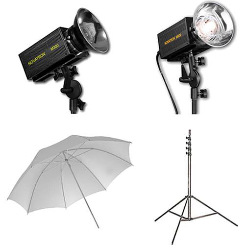 Novatron M300 / M500 2-Monolight Kit with Umbrellas N2646KIT