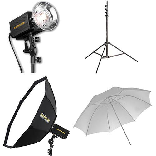 Novatron M500 2-Monolight Kit with Umbrella & N2648KIT