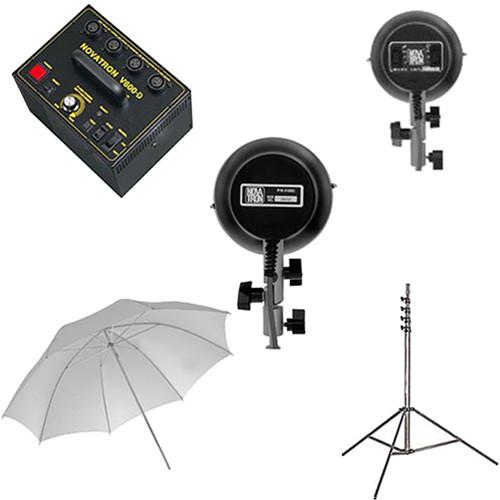 Novatron V600-D 2 Head Starter Kit with Umbrella N2656KIT