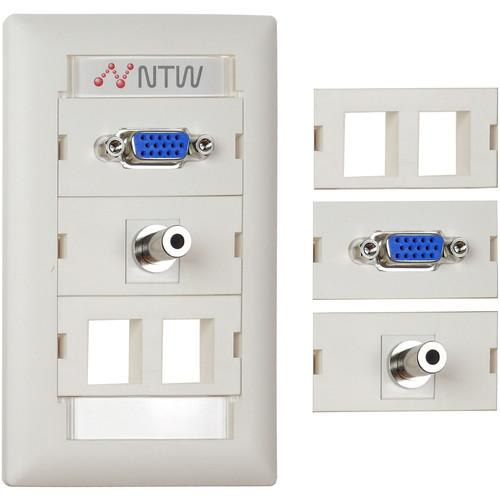 NTW  Customizable UniMedia Wall Plate NUNC-V35B2