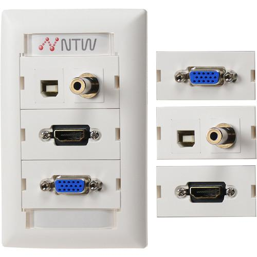 NTW Customizable UniMedia Wall Plate NUNC-V35TUBHP