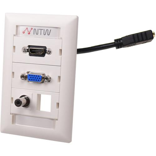 NTW  Customizable UniMedia Wall Plate NUNC-VHP35B