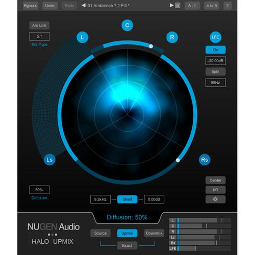 NuGen Audio Halo Upmix - Stereo to 5.1 and 7.1 Upmixer 11-30247