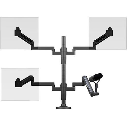 O.C. White ProBoom Ultima Triple Monitor Arm & SMS-3-ULP
