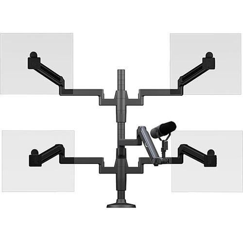 O.C. White Ultima Quad Monitor Arm & Microphone SMS-HD-4-ULP