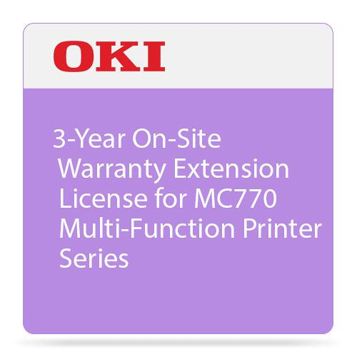 OKI 3-Year On-Site Warranty Extension License for MC770 38034903