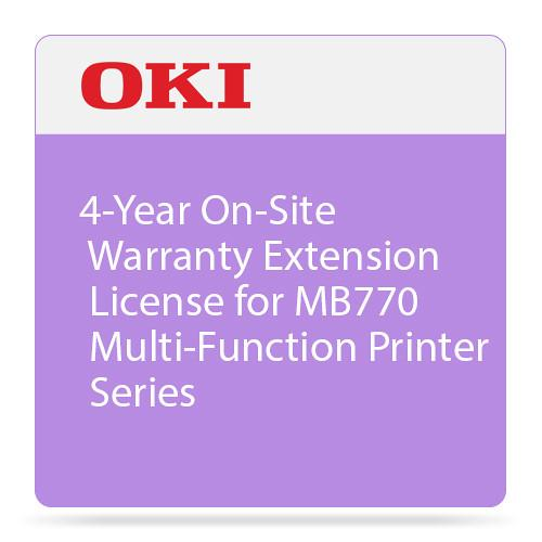 OKI 4-Year On-Site Warranty Extension for MB770 38034804
