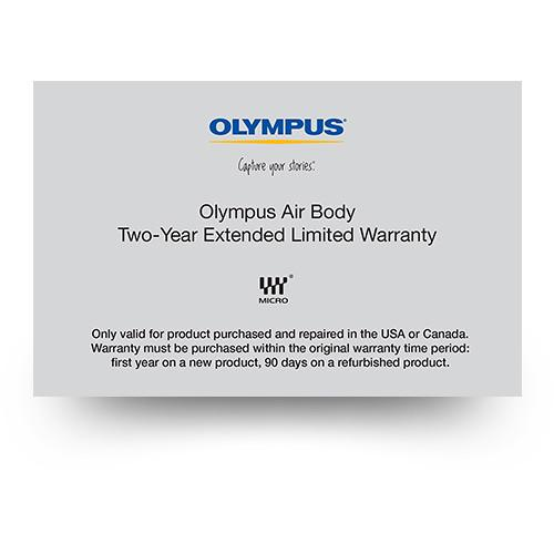 Olympus 2-Year Extended Limited Warranty for Olympus Air 260610