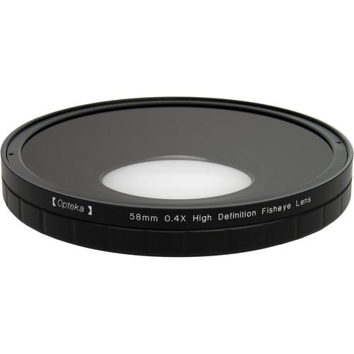Opteka 0.4X HD2 Large Element 58mm Fisheye Lens OPTSC584PF