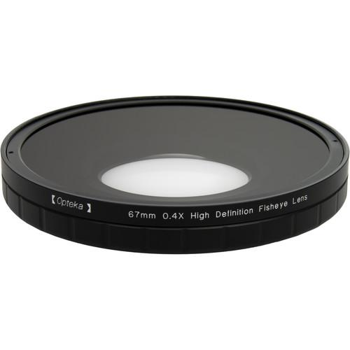 Opteka 0.4X HD2 Large Element 67mm Fisheye Lens OPTSC674PF
