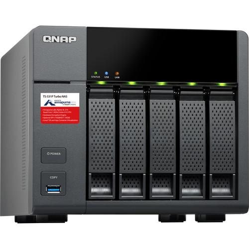 QNAP TS-531P Five-Bay NAS Enclosure TS-531P-8G-US