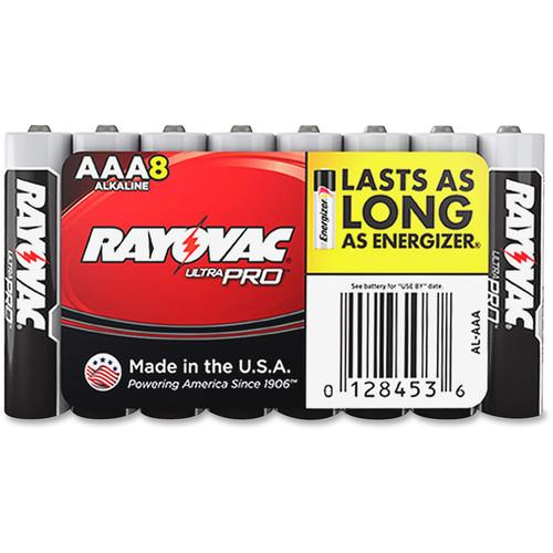 RAYOVAC AAA Alkaline Battery (Shrink-Wrapped, 8-Pack) AL-AAA