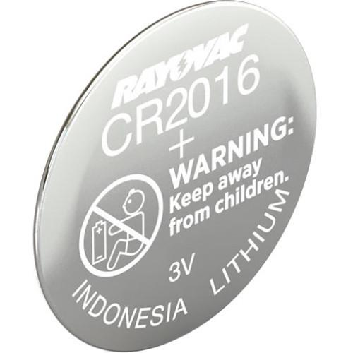 RAYOVAC CR2016 3 VDC Lithium Battery for Select KECR2016-1C