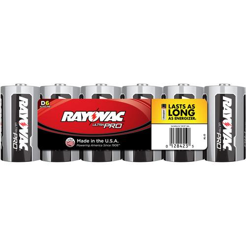 RAYOVAC D Alkaline Battery (Shrink-Wrapped, 6-Pack) AL-D