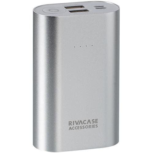 RIVACASE 10000 mAh Portable Power Pack (Silver) VA1010SLVR