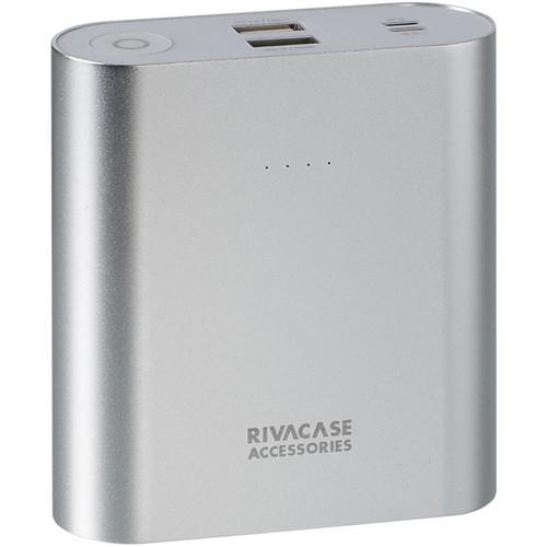 RIVACASE 15000 mAh Portable Power Pack (Silver) VA1015SLVR