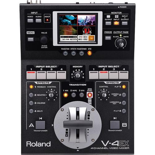 Roland V-4EX Four Channel Digital Video Mixer with Effects V-4EX