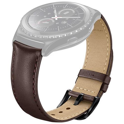 Samsung Leather Band for Gear S2 Classic (Brown) ET-SLR73MAEBUS