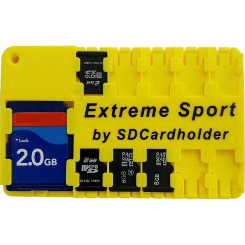 SD Card Holder Extreme Sport Micro SD Cardholder (Yellow) 00115Y