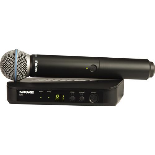 Shure BLX24 Handheld Wireless System With Beta 58A BLX24/B58-H10