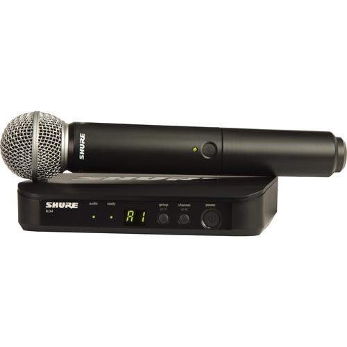 Shure BLX24 Vocal Wireless System With SM58 Mic BLX24/SM58-H10