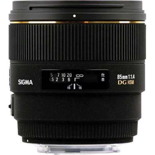 Sigma 85mm f/1.4 EX DG HSM Lens For Canon EOS Digital SLR