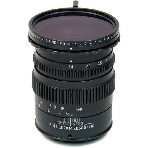 SLR Magic 35mm T1.4 II Cine Lens and 52mm SLR-3514MFT(II)52VNDL