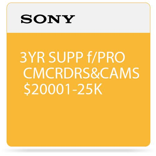 Sony 3-Year SupportNET Depot Service Plan for Cameras SPSCC7DP3