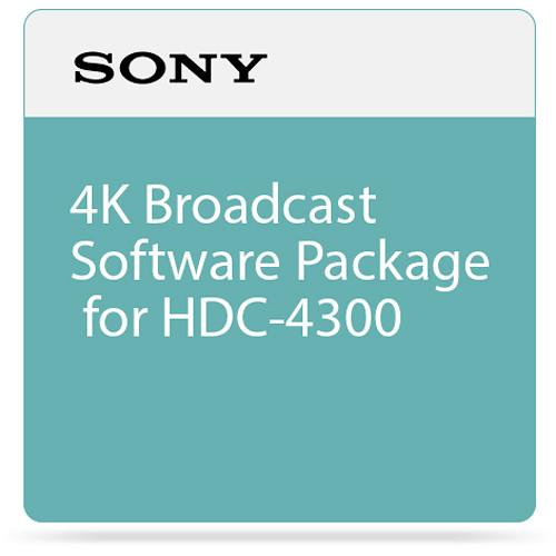 Sony 4K Broadcast Software Package for HDC-4300 SZC4001