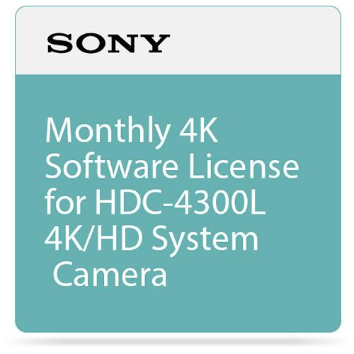 Sony Monthly 4K Software License for HDC-4300L 4K/HD SZC4001M