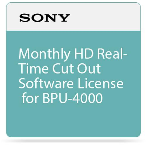 Sony Monthly HD Real-Time Cut Out Software License SZC-2001M
