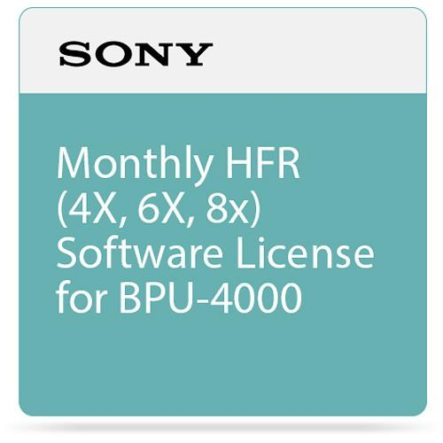 Sony Monthly HFR (4X, 6X, 8x) Software License SZC-4002M