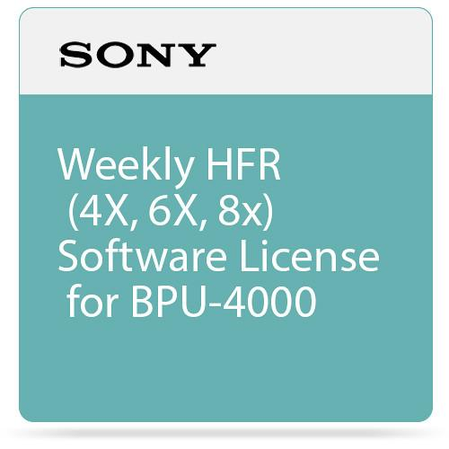Sony Weekly HFR (4X, 6X, 8x) Software License SZC-4002W