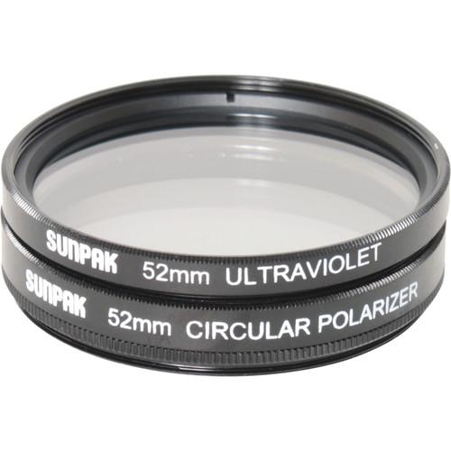 Sunpak 52mm UV and Circular Polarizer Filter Kit CF-7078-TW-MW