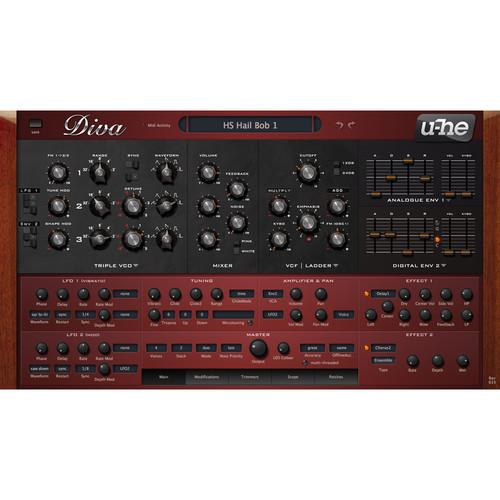 u-he Diva Software Synthesizer (Plug-In Download) 10-12078
