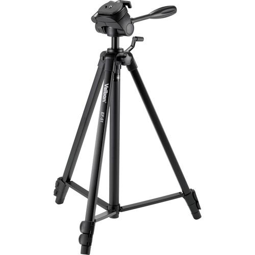 Velbon EF-51 Aluminum 3-Section Tripod with 3-Way Head EF-51