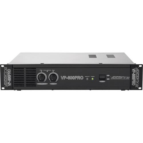 VocoPro 600W Professional Power Amplifier (2 RU) VP-600 PRO