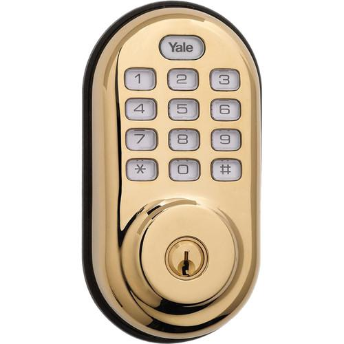 Yale Push Button Deadbolt Standalone (Bright Brass) YRD210NCR605